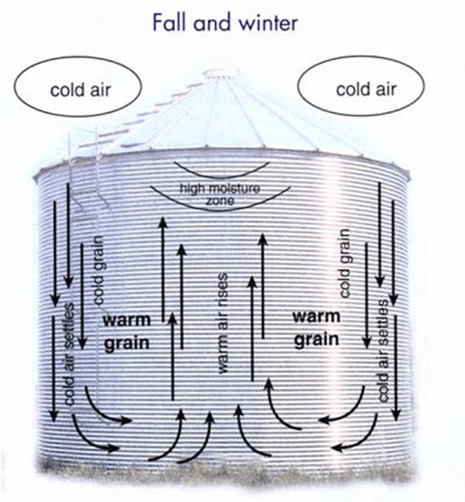Bin moisture migration - cool months