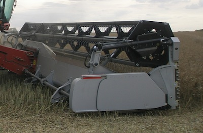 Biso header for straight combining canola