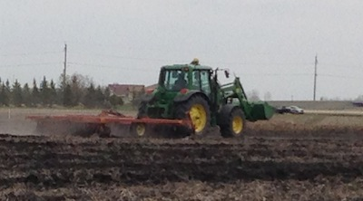 Then the site was disced to work in the fertilizer.