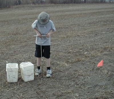 Late fall is a great time to take soil samples. Photo credit: John Heard, MAFRD