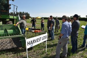 Jim Bessel explains how to reduce harvest loss when combining. Credit: Earl Greenhough