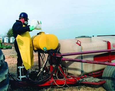 Pesticide mixing small