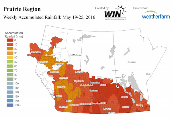This map shows precipitation in the past week. To get the latest map from WIN, go to http://weatherfarm.com/weather-maps/