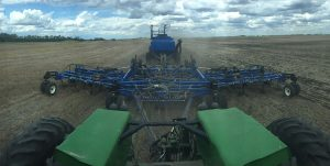 Seeding canola in dry conditions. Credit: Jon Whetter