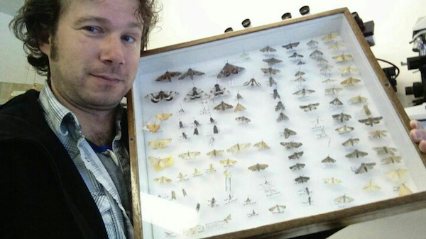 CCC agronomy specialist Gregory Sekulic with lepidoptera moths at canoLAB 2015.