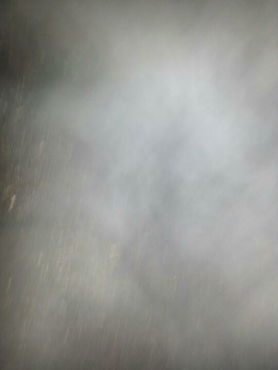 This is steam coming off canola heating due to high moisture. This was not a welcome sight for the grower.